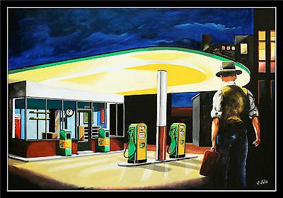 Tankwart BP Tankstelle Artprint Benzin Diesel Oel Zapfsäule Coca Cola Automat AK