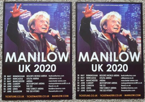 2 Flyers - Barry Manilow - UK Tour 2020