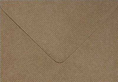 C5 / A5 Premium Brown Ribbed Kraft Envelopes by Mad as a Crafter