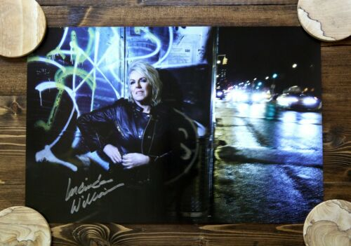 """LUCINDA WILLIAMS SIGNED POSTER 18"""" X 12"""" AUTOGRAPHED FULL-COLOR GENUINE!"""