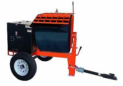 6 Cu Ft.0 Towable Polyurethane Drum Concrete Cement Mortar Plaster Mixer W 1