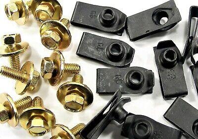 Dodge Truck Body Bolts & U-nut Clips- M6-1.0 x 16mm Long- 10mm Hex- 40 pcs #149F