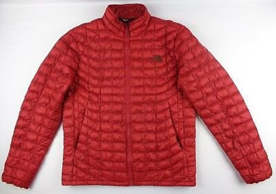 The North Face Mens M Red Thermoball Puffer Full Zip Jacket Coat Hiking NF00C762
