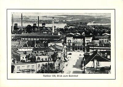 AK Ratibor OS Blick zum Bahnhof - Repro Reproduktion Motiv 1920er, Karte 1970er