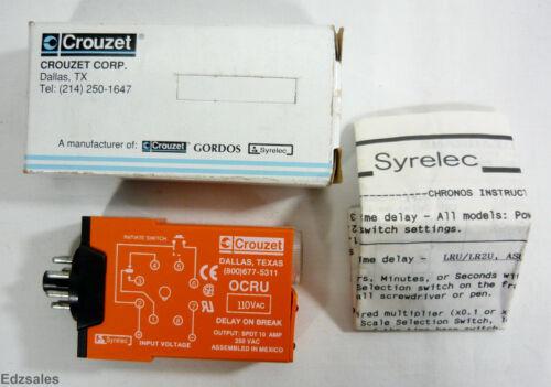 Syrelec Crouzet OCRU-110 SPDT 10A Timer Relay
