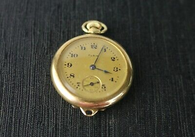 Antique Elgin 14K Yellow Gold Ladies Packet Watch