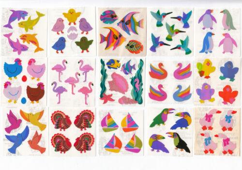 Vintage Sandylion Pearly Pearl Opal MOP Fish Birds Swan Stickers - You Choose