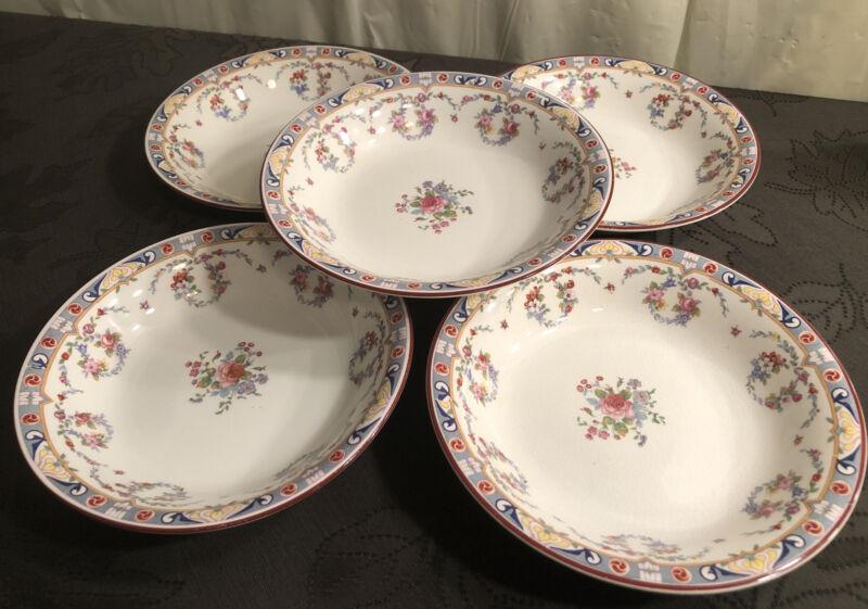 "Rare Early 1900s J & G Meakin 7 3/8"" Coupe Soup Bowl Bowls Kew Pattern"