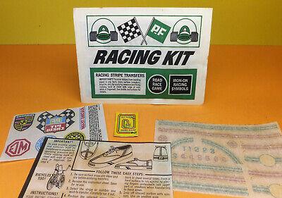 Vintage P.F. FLYERS Racing Kit PREMIUM Shelby Cobra Porshe JAGUAR Transfers NOS