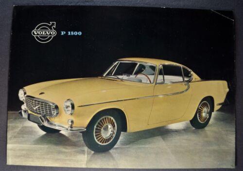 1960-1961 Volvo P 1800 Sales Brochure Sheet Nice Original