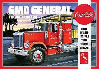 AMT 1179 1976 GMC General Semi Tractor (Coca-Cola) plastic model kit 1/25 for sale  Shipping to India