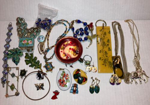 Lot Of Vintage Enamel Jewelry And More  - $25.00