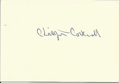 1910-1999 CHRISTOPHER COCKERELL (Hovercraft), white card, ORIGINALLY SIGNED!