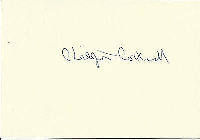 1910-1999 CHRISTOPHER COCKERELL (Hovercraft), white card, ORIGINALLY SIGNED!