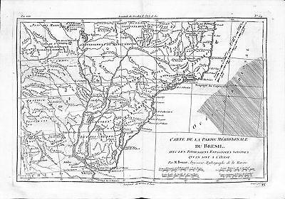 Antique maps, Carte de la partie meridionale du Bresil …