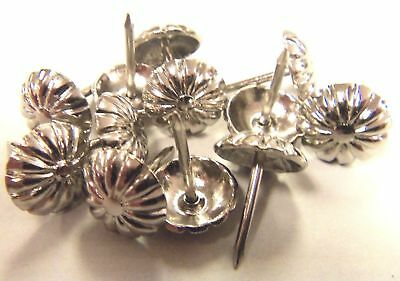 Rosette Floral Head Decorative Tack 100 pcs Shiny Nickel Nail Upholstery