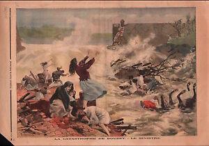 """Floods Deluge Catastrophe du réservoir de Bouzey Vosges France 1895 ILLUSTRATION - France - Commentaires du vendeur : """"OCCASION"""" - France"""