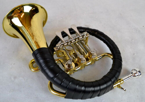 Kohlert B-Pless-Horn Hunting Horn Incl. Bag And Mouth Piece With Engraving