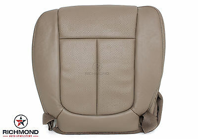 2009 2010 Ford F150 Lariat -Driver Side Bottom PERFORATED Leather Seat Cover Tan