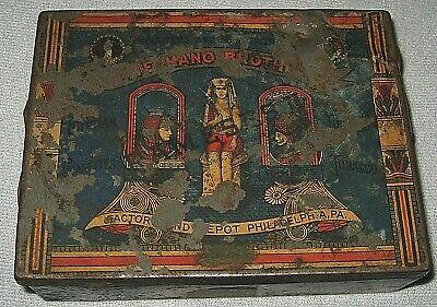 - Antique Stephano Brothers 100 Rameses II Egyptian Cigarettes Tin Box
