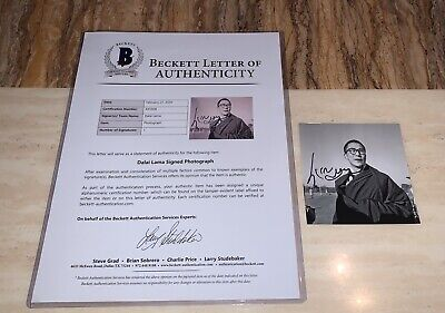 Dalai Lama Signed Photo Autograph Beckett COA Auto BAS With Full Letter A55928