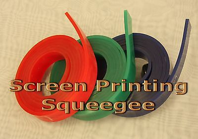 Screen Printing Squeegee Single 50mm X 9mm X672 Roll 70 Duro Green Color