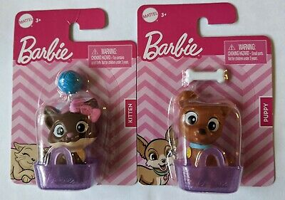 Barbie Pets Lot of 2! Puppy & Kitty Cat & Dog House Pets Animals Cute Baskets