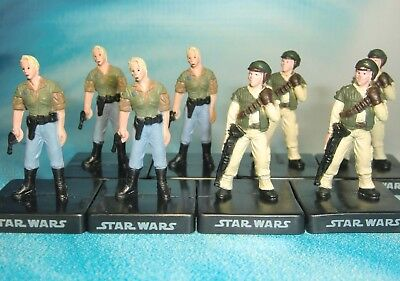 Star Wars Miniatures Lot  Rebel Commando Rebel Leader !!  s97