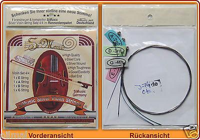 """*Neu """"SiMusic Saitensatz"""" Saite Saiten Strings Geige Violine Violin Violino New"""