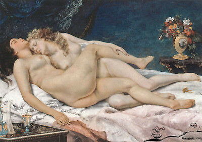 Kunstkarte: Gustave Courbet - Die Schlafenden