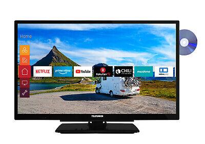 Telefunken XH24G501VD Fernseher 24 Zoll HD Smart TV Triple-Tuner DVD Player