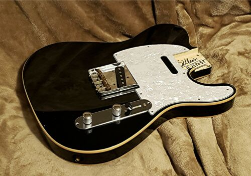 Tele body, fully bound in Midnight black by Dillion