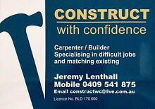 CONSTRUCT WITH CONFIDENCE - CARPENTER / BUILDER Glenelg Holdfast Bay Preview
