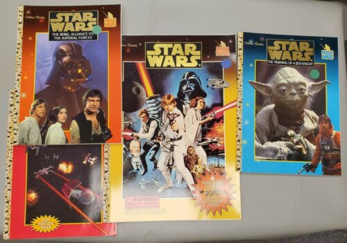 Lot of Star Wars Coloring Puzzles Mazes Golden Books Collection - JJ234