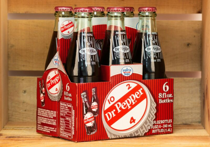 ORIGINAL Six Pack of Dublin Dr. Pepper 8fl oz Bottles with Pure Cane Sugar