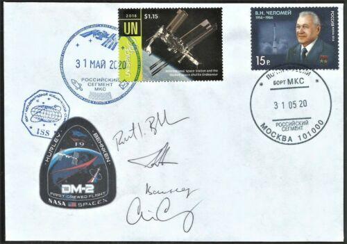 Space mail flown cover ISS /Crew Dragon DM-2/ NASA astronaut autograph