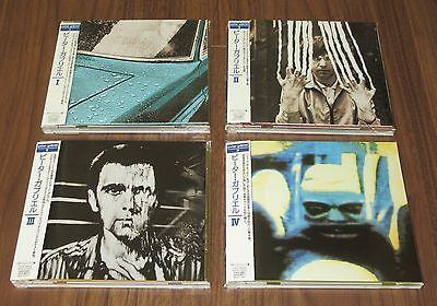 Peter Gabriel Japan PROMO issue CD x 4 set I - IV OBI Genesis MORE LISTED mint!