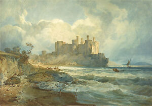 JMW Turner Watercolor Reproduction: Conway Castle, North Wales:  Fine Art Print