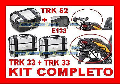 KAWASAKI VERSYS 650 10 KIT 3 VALIGIE TRK33 TRK52 + TELAIO RAPIDO PLR450 + 451FZ