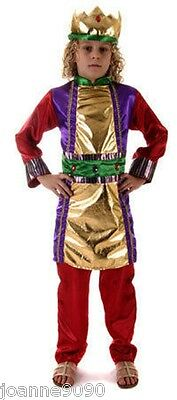 Kids Childs Boys King Wise Man Nativity Play Christmas Fancy Dress Costume S M L (Wise Man Kids Costume)