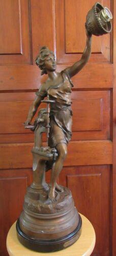 Statue of Graceful Lady on Base - C - 1910 - Celebration of Industry