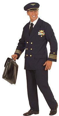 Flugkapitän Pilot Kostüm NEU - Herren Karneval Fasching Verkleidung Kostüm