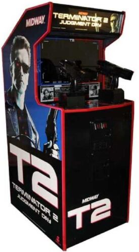 TERMINATOR 2 JUDGMENT DAY ARCADE MACHINE by MIDWAY 1991 (Excellent Condition)