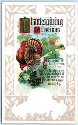 Thanksgiving Arts And Crafts (Arts and Crafts  THANKSGIVING GREETINGS  Embossed 1910s  )