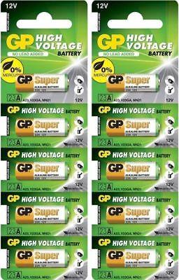 10 Pcs GP23A 12V Alarm Remote Alkaline Batteries GP 23AE 21/23 A23 23A MN21 - 12v Alarm Remote Battery