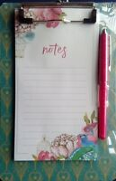 Notepad Gift Set Note Jotter With Pen Floral Design (60 Sheets) - tjm ltd - ebay.co.uk