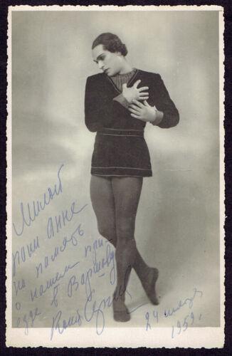 Vintage Ballet Photo 1959 Signed Russian Dancer Konstantin Sergeyv (4301)