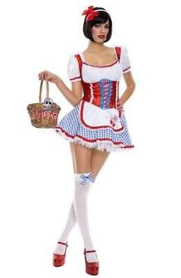 NWT sexy MUSIC LEGS cute DOROTHY fairytale WIZARD of OZ costume Small Medium