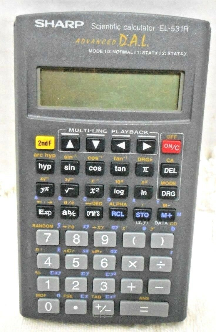 Sharp Scientific Calculator EL-531R Advanced D.A.L. Multi-Line Playback  WORKS!