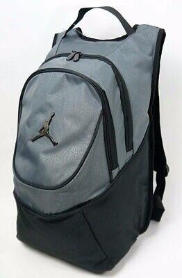 NIKE Air Jordan Jumpman BLACK GRAY Backpack Laptop Book Bag 9A1118-195 $50